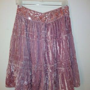 BCBGMaxAzria Skirts - BCBGMAXAZRIA  Velvet  Skirt